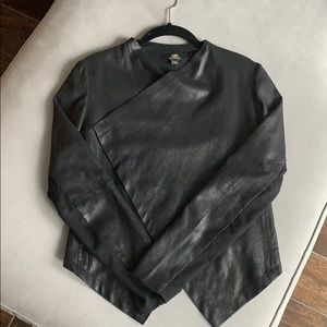 ABS Platinum Faux Leather Jacket
